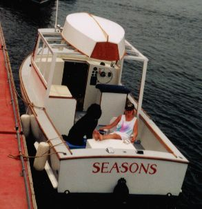 Al Daian's Car-Topper 9 stowed aboard the Sea-Sons