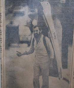 Photo of old news clipping - a Folda Dippa on the go